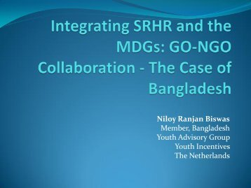 Workshop 14 - Niloy Biswas - Global Partners in Action