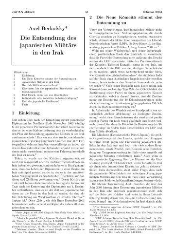 Die Entsendung des japanischen Militärs in den Irak - GIGA German ...