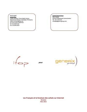 Les Français et la livraison des achats sur Internet - Generix Group
