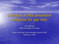 Overview of HIV prevention initiatives for gay men - GMSH | Gay ...