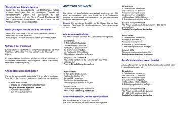 Ansagetext personalisieren ANRUFUMLEITUNGEN ... - GIB-Solutions