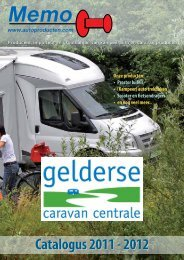 Memo Brochure 2011-2012 - Gelderse Caravan Centrale