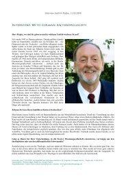 Interview Joachim Piepke - Interviews with German Anthropologists