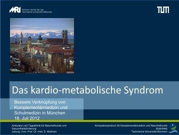 Vortrag, Prof. Dr. med. Melchart - Gesundheitsbeirat-muenchen.de