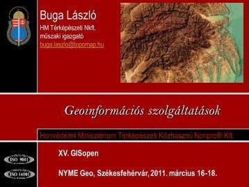 Geoinformációs szolgáltatások - NymE GEO portál