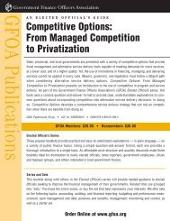From Managed Competition to Privatization - Government Finance ...