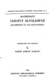 Incoherence of the Philosophers - al-Ghazali's Website