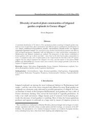 Diversity of aestival plant communities of irrigated garden croplands ...