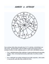 NUMBERS & ASTROLOGY