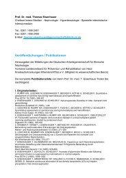 Veröffentlichungs-/Publikationsliste