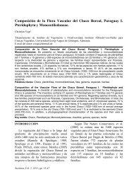 Composición de la Flora Vascular del Chaco Boreal, Paraguay I ...