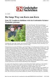 Pressebericht der Grafschafter Nachrichten