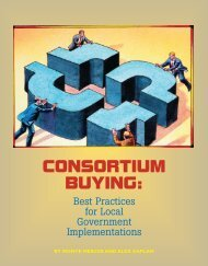 CONSORTIUM BUYING: - Government Finance Officers Association