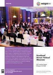 Scotland Street School Venue Hire Leaflet Download - Glasgow Life