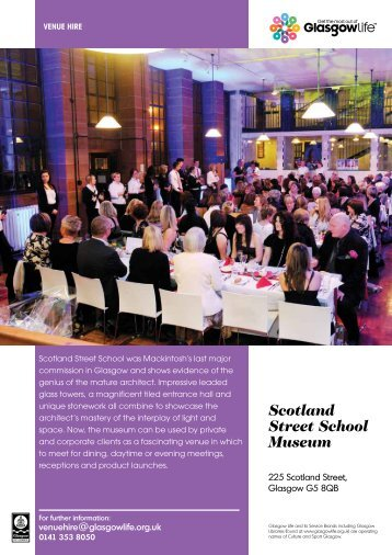 Scotland Street School Venue Hire Leaflet Download - Glasgow Life
