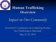 Human Trafficking - Governor's Office of Crime Control & Prevention ...
