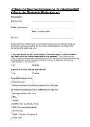 Fragebogen Breitbandversorgung Velpe - Westerkappeln