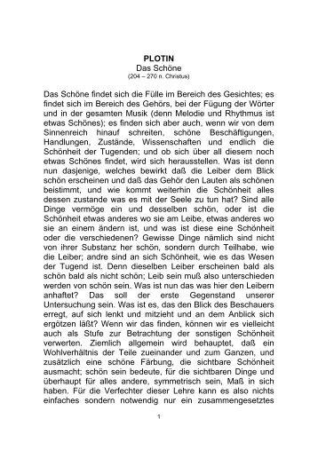 Plotin Über das Schöne - Geisteskind.de