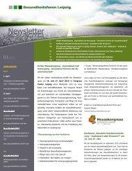 1. Newsletter 2013 - Gesundheitsforen Leipzig GmbH