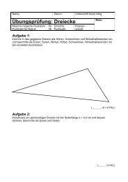 Übungsprüfung: Dreiecke - Gegenschatz.net