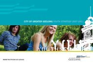 CoGG Youth Strategy 2007-2011 - City of Greater Geelong