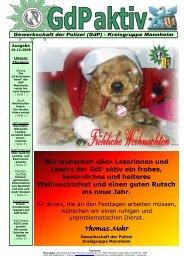 GdP aktiv Ausgabe 2008-12-19 - GdP Mannheim