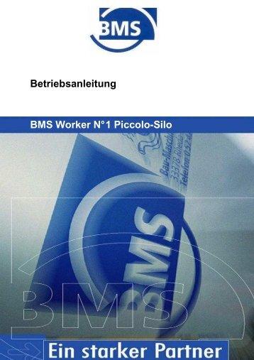 Betriebsanleitung Piccolo Silo - BMS Bau-Maschinen-Service AG