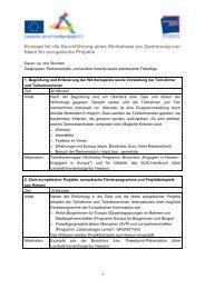 Konzept für die Durchführung eines Workshops ... - Gemeinsam aktiv