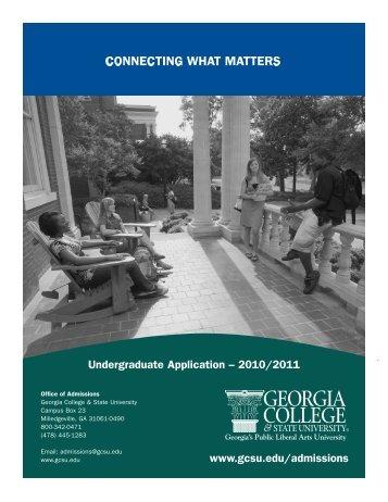 Undergraduate Application 2009-2010 - Georgia College & State ...