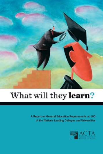 What will they learn? - The American Council of Trustees and Alumni