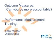 Outcomes Measures - GLPTI
