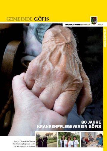 Sonderausgabe Segavio Krankenpflegeverein Göfis - Gemeinde Göfis