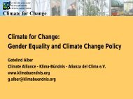 Climate for Change - genanet - Leitstelle GENDER | UMWELT ...