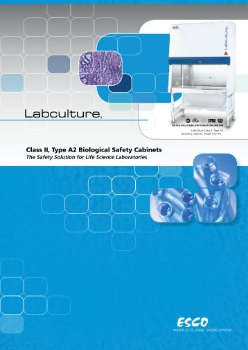 Class II, Type A2 Biological Safety Cabinets - Gemini BV
