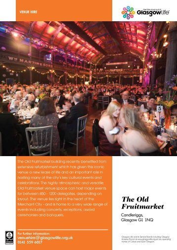The Old Fruitmarket - Glasgow Life