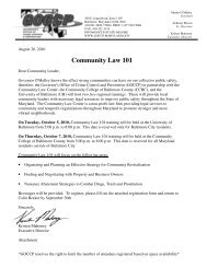 Community Law 101 - Governor's Office of Crime Control ...