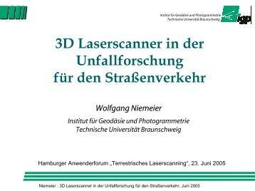 Anwendungspotential von scannenden Meßverfahren - Geomatik ...