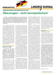 Journal Okotober 2001 - gdp-deutschepolizei.de