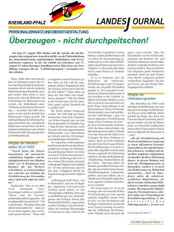 Journal Okotober 2001 - gdp-deutschepolizei.de