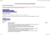 Vorlesungsverzeichnis Wintersemester 2000/ 2001 - Geographie