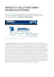 MAROXX IT- SOLUTIONS GMBH – MAXIMILIAN STROMER