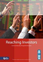 Reaching Investors Communicating - Global Reporting Initiative