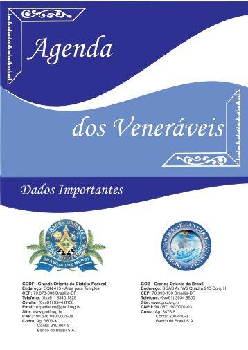 Agenda dos Veneráveis v13 - Grande Oriente do Distrito Federal