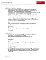 Magnetfelder und Lorentzkraft