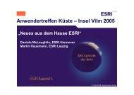 Neues Aus dem Hause ESRI - AG GIS-Küste
