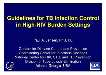 Guidelines for TB Infection Control in High-HIV Burden ... - GHDonline