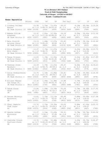 NCAA Championships Results - Heptathlon (PDF) - GoDucks.com