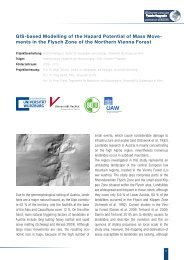 GIS-based Modelling of the Hazard Potential of Mass Move- ments ...