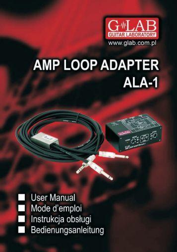 Instrukcja obsługi Amp Loop Adapter ALA-1 - G LAB