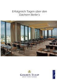 Erfolgreich Tagen über den Dächern Berlin's - the Golden Tulip ...